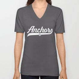 Anchors Vintage Script Unisex V-Neck