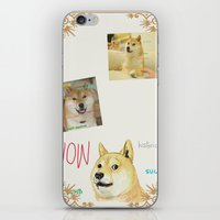 doge iPhone & iPod Skins featuring Wow Doge by Akin Enthusiasts