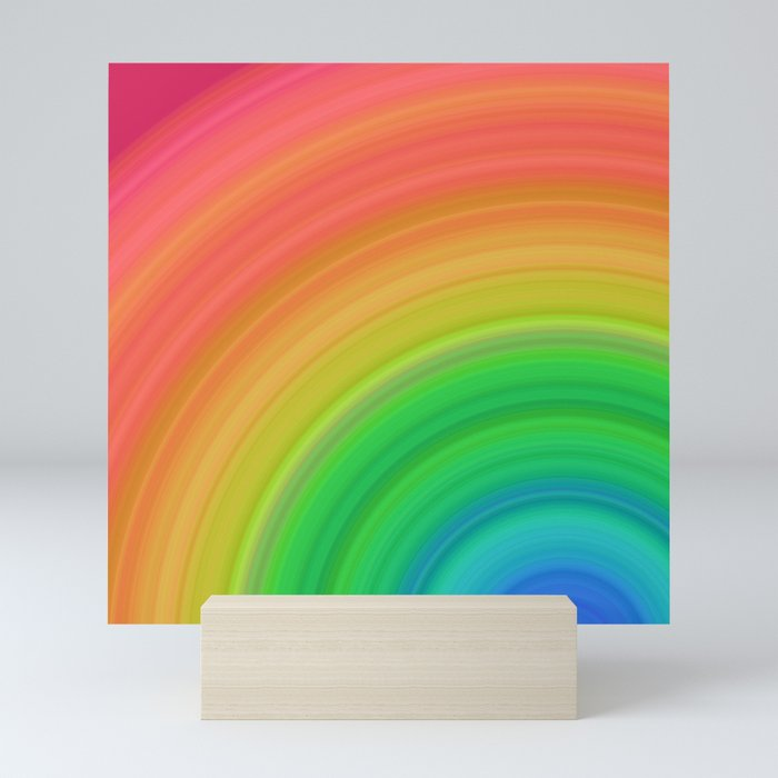 Bright Rainbow | Abstract gradient pattern Mini Art Print
