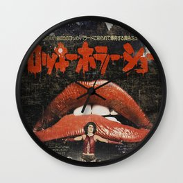 Rocky Horror poster Wall Clock