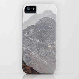 Layered Mountains of Salkentay Pass iPhone Case