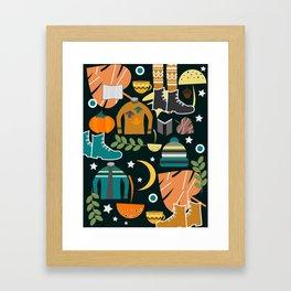 Autumn clothing Framed Art Print