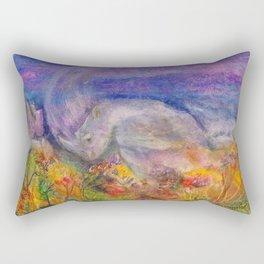 Rhino Wave Rectangular Pillow