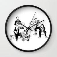 the neighbourhood Wall Clocks featuring The neighbourhood: band  by artbysteph