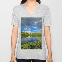 Reflections on a Pond Unisex V-Neck