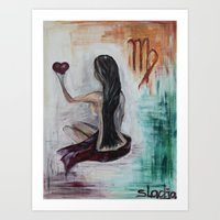 virgo Art Prints featuring Virgo by sladja