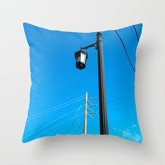 #ABSTRACT VIEW @KEY WEST USA by Jay Hops Throw Pillow