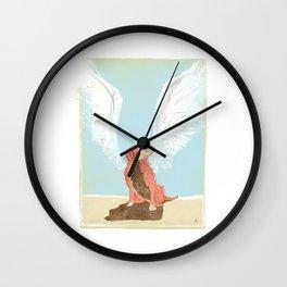All Dogs Go to Heaven (Golden Retriever) Wall Clock