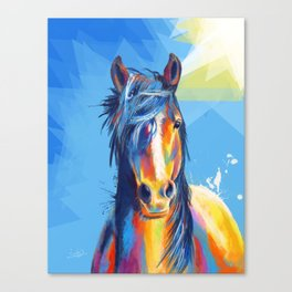 Horse Beauty - colorful animal portrait Canvas Print