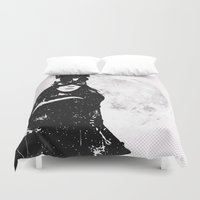 catwoman Duvet Covers featuring CatWoman by Profili Studio
