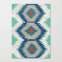 kilim Canvas Prints featuring kilim I by Amylin Loglisci