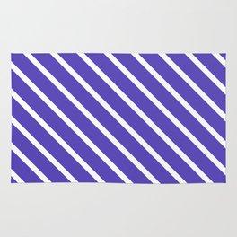 Lavender Blue Diagonal Stripes Rug