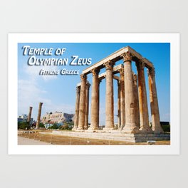 Temple of Olympian Zeus - Athens Greece Art Print