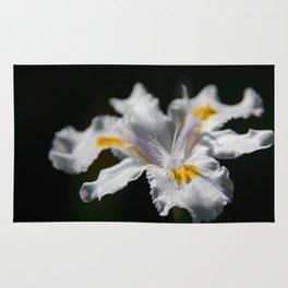 White Iris Rug