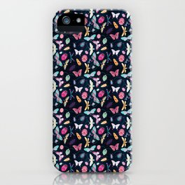 Insect repeat pattern iPhone Case