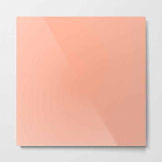 Simply Sweet Peach Coral Metal Print