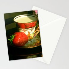 Milk and a strawberry Stationery Cards