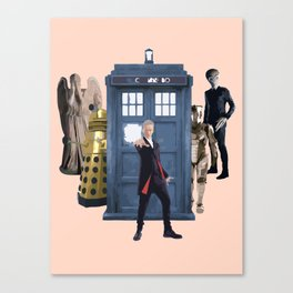 Doctor Who & Enemies Canvas Print