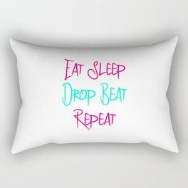 Eat Sleep Drop Beat Repeat DJ Turntable Heartbeat Rectangular Pillow