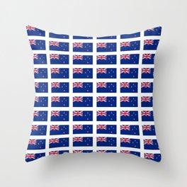 Flag of new zealand -zealand,New Zealander,Kiwi,wellington,Auckland. Throw Pillow