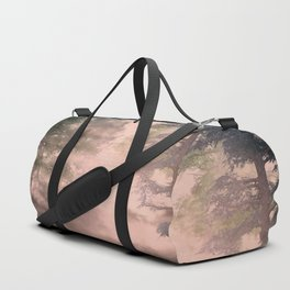 Pink mist pine forest Duffle Bag