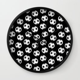 Soccer Ball Pattern-Black Wall Clock