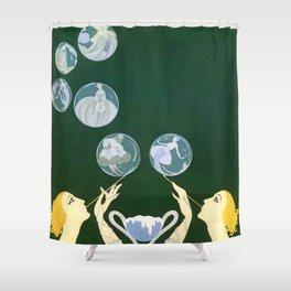 """1920's Art Deco Design """"Bubbles"""" Shower Curtain"""