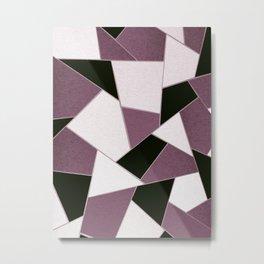 Mauve Black Geometric Glam #1 #geo #decor #art #society6 Metal Print