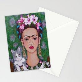 Frida cat lover closer Stationery Cards