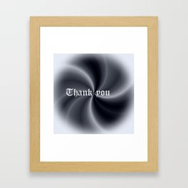 Pattern with writing Framed Art Print