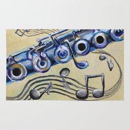 Flute Blues Rug