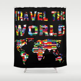 Love of travel Shower Curtain
