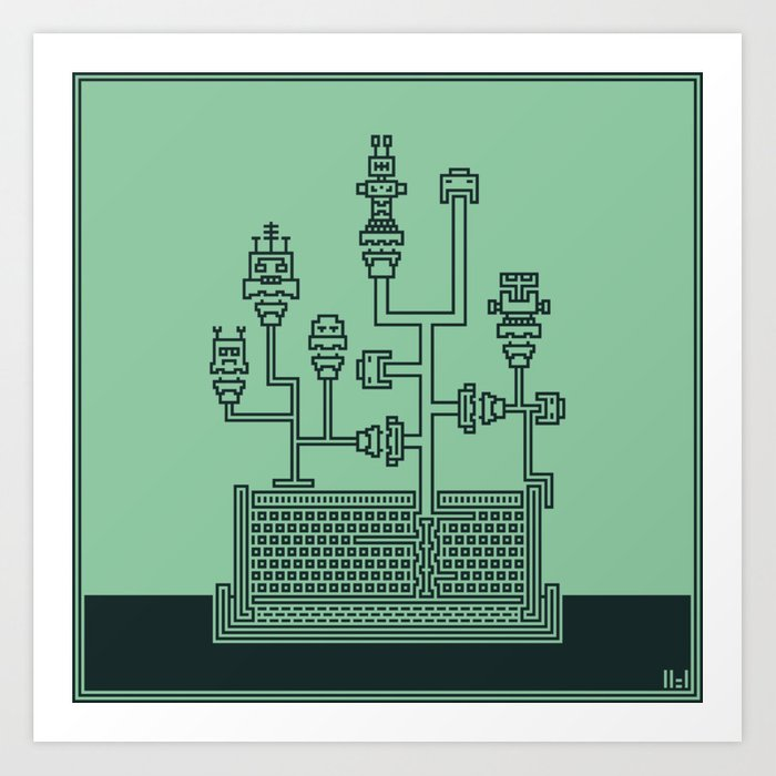 Planticular Robotic Art Print