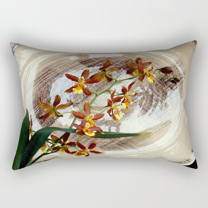 A Brushstroke Of Orchid Genus Rectangular Pillow