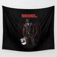 finn Wall Tapestries featuring The Rebel Collection: Finn by Daniac Design