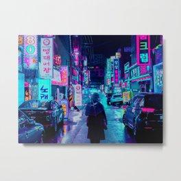 Umbrella in the City Metal Print