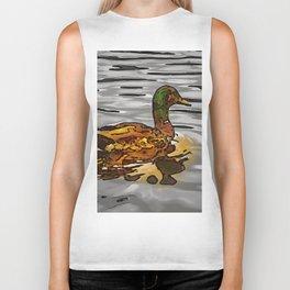The golden duck. (Painting) Biker Tank