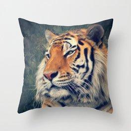 Tiger No 3 Throw Pillow