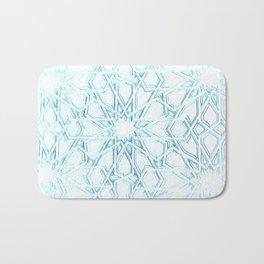 Atomic Snowflake Bath Mat