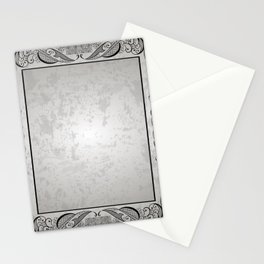Abstract frame with grunge background Stationery Cards