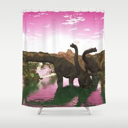 Brachiosaurus Shower Curtain
