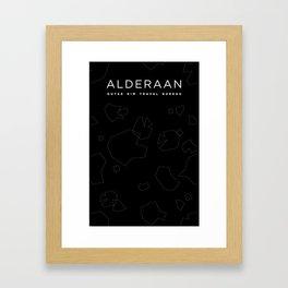 Outer Rim Travel Bureau: Alderaan Framed Art Print