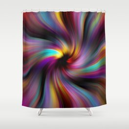 Abstract Fractal Background 6 Shower Curtain