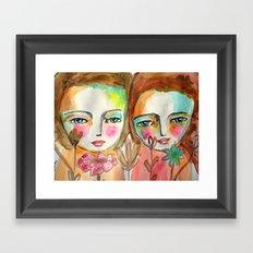 2 girls Framed Art Print