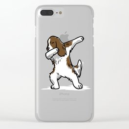 Funny Dabbing English Springer Dog Dab Dance Clear iPhone Case