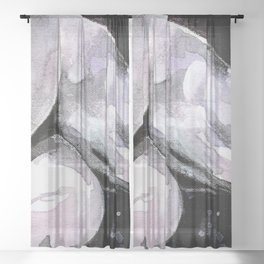 Nude by Kathy Morton Stanion Sheer Curtain