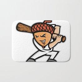 Acorn Baseball Mascot Bath Mat