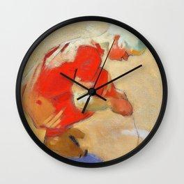 Girl on the Sand - Helene Sofia Schjerfbeck Wall Clock
