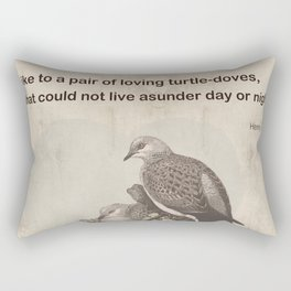 Like to a pair of loving turtle-doves Rectangular Pillow