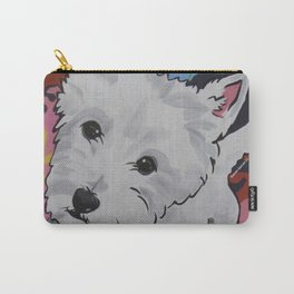 Pop Art Westie Named Poppy Carry-All Pouch